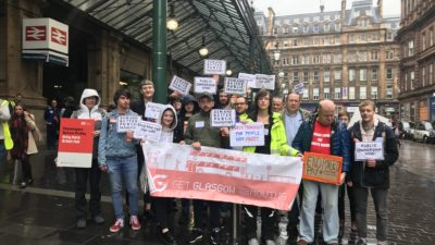 Protest at Glasgow Central