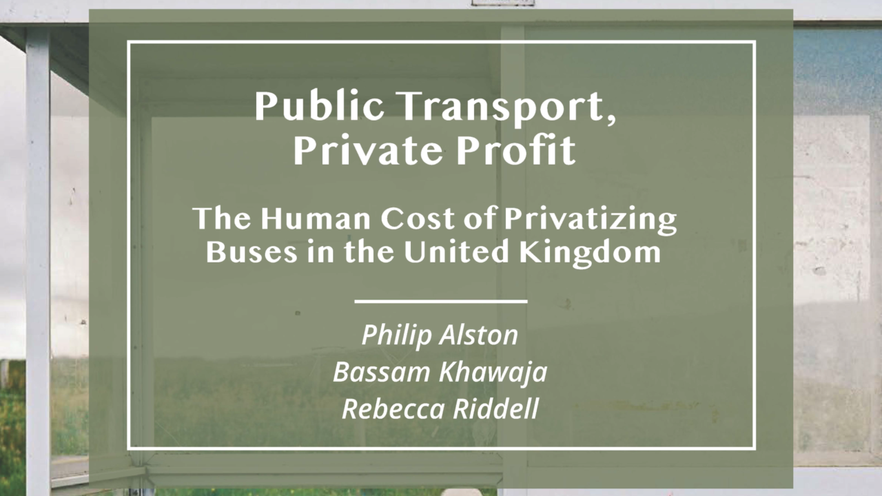 Public Transport, Private Profit